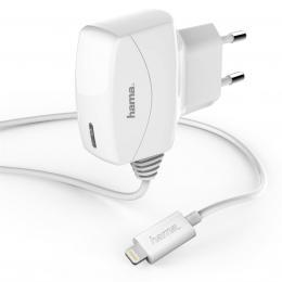 Hama MFI sí�ová rychlonabíjeèka pro Apple s Lightning konektorem, bílá