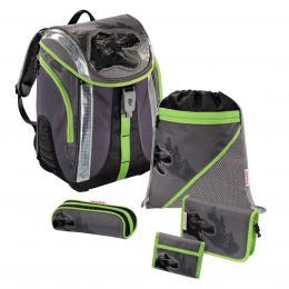 Detail produktu - Školní batoh -  5-dílný set, Flexline Dino, certifikát AGR