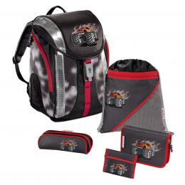 Školní batoh - 5-dílný set, Flexline Truck, certifikát AGR