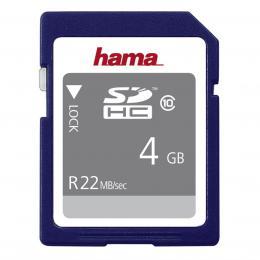 Detail produktu - Hama SDHC 4 GB 22 MB/s CLASS 10