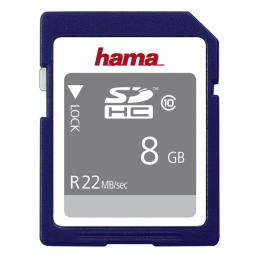 Hama SDHC 8 GB 22 MB/s CLASS 10