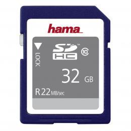 Hama SDHC 32 GB 22 MB/s CLASS 10