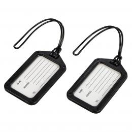 Detail produktu - Hama identifikační štítek na zavazadlo, černý, set 2 ks (cena uvedená za set)