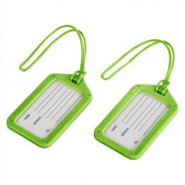 Hama identifikaèní štítek na zavazadlo, zelený, set 2 ks (cena uvedená za set)