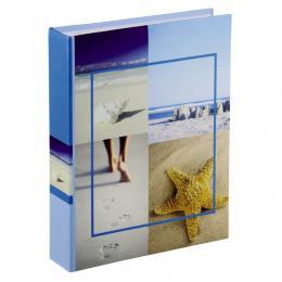 Detail produktu - Hama album memo SEA SHELLS 10x15/200, modré, popisové štítky