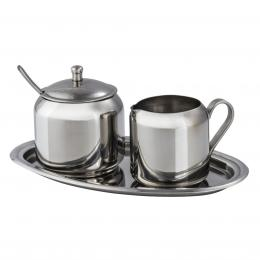 Xavax set nádobek na mléko a cukr, nerezový