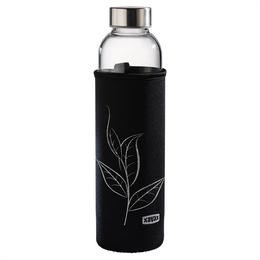 Xavax sklenìná lahev na nápoje, 500 ml, se sítkem a neoprenovým obalem