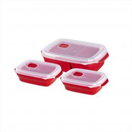 Xavax nádoby do mikrovlnné trouby, 3-dílný set