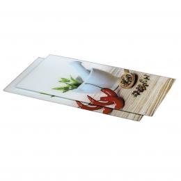 Xavax sklenìné kuchyòské prkénko Spice, 52 x 30 cm, set 2 ks