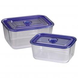 Xavax sklenìné nádoby, hranaté, 1500 ml   3050 ml, 2 ks - zvìtšit obrázek