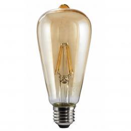 Xavax LED filament žárovka, E27, 4 W (=32 W), ST64 dekorativní tvar, teplá bílá