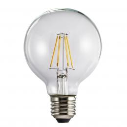 Xavax LED filament žárovka, E27, 4 W (=40 W), tvar koule, teplá bílá
