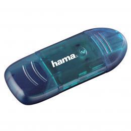 Detail produktu - Hama čtečka karet USB 2.0 SD/MMC, modrá