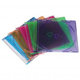 Hama Slim CD Box, pack of 50, coloured, value pack