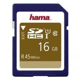 Detail produktu - Hama SDHC 16 GB UHS-I 45 MB/s Class 10