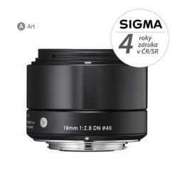 Detail produktu - SIGMA 19/2.8 DN ART černý OLYMPUS