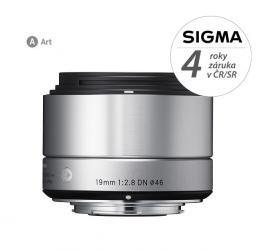 SIGMA 19/2.8 DN ART støíbrný OLYMPUS