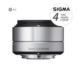 Detail produktu - SIGMA 30/2.8 DN ART stříbrný OLYMPUS