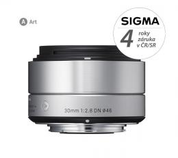 Detail produktu - SIGMA 30/2.8 DN ART stříbrný SONY E Mount