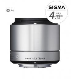 SIGMA 60/2.8 DN ART støíbrný SONY E mount