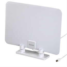 Hama pokojová anténa DVB-T/DVB-T2, ultra plochá