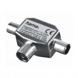 Detail produktu - Hama rozbočovač pro TV, koaxiální zásuvka - 2 vidlice