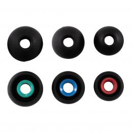 Hama náhradní silikonové špunty, 3 páry, èerná