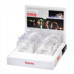 Hama USB LED svìtelný øetìz, barevný, 3 m, 12 ks v displeji, cena je uvedená za 1 kus