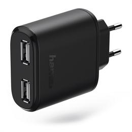 Hama dvojitá sí�ová USB nabíjeèka, 4,8 A, AutoDetect