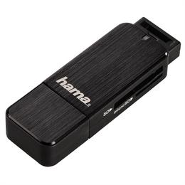 Detail produktu - Hama čtečka karet USB 3.0 SD/microSD, černá