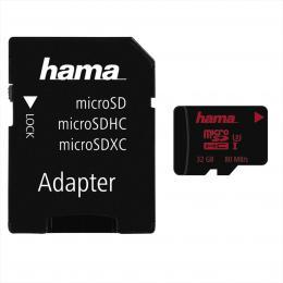 Hama microSDHC 32 GB UHS Speed Class 3 UHS-I 80 MB/s   adaptйr