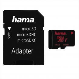 Hama microSDXC 64 GB UHS Speed Class 3 UHS-I 80 MB/s   adpatйr