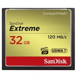 SanDisk Extreme CF 32 GB 120 MB/s zápis 85 MB/s UDMA7 - zvìtšit obrázek