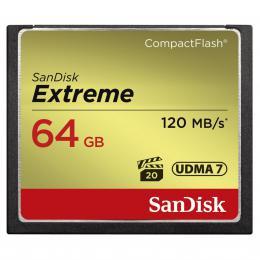SanDisk Extreme CF 64 GB 120 MB/s zápis 85 MB/s UDMA7