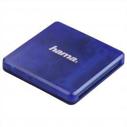 Hama multi иteиka karet USB 2.0, SD/microSD/CF, modrб