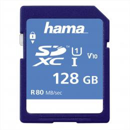 Hama SDXC 128 GB Class 10, UHS-I 80 MB/s