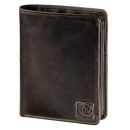 Detail produktu - Pánská kožená peněženka s ochranou dat CRYPTALOY H1C, HAMA 1923 Paris, tmavě hnědá