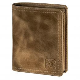 Detail produktu - Pánská kožená peněženka s ochranou dat CRYPTALOY H1C, HAMA 1923 Mailand, světle hnědá