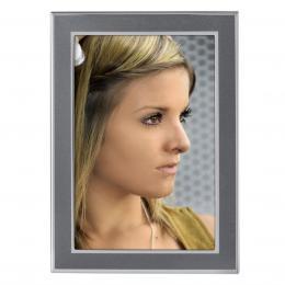 Hama portrétový rámeèek Philadelphia, 10x15 cm, antracitový/støíbrný - zvìtšit obrázek