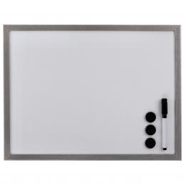 Hama bílá magnetická tabule, 30x40 cm, døevìná, støíbrná