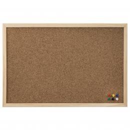 Detail produktu - Hama korková nástěnka, 40x60 cm, dřevěná, přírodní