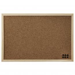 Detail produktu - Hama korková nástěnka, 29,5x39,5 cm, oboustranná, dřevěná, přírodní