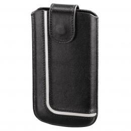Hama pouzdro na mobilní telefon Neon Black, XL, èerné/bílé