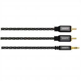 Avinity CL 2  audio kabel jack - 2 cinch, vidlice-vidlice, 0,5 m, kovové konektory