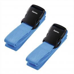 Hama set 2 popruhù na zavazadlo, 3,8 x 200 cm, modré (cena za set)