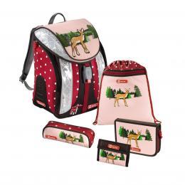 Detail produktu - Školní batoh - 5-dílný set, Flexline Srneček, certifikát AGR