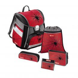 Detail produktu - Školní aktovka - 5-dílný set, Step by Step Červený pavouk, certifikát AGR