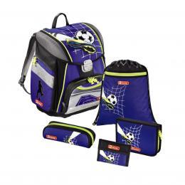 Detail produktu - Školní aktovka pro prvňáčky - 5-dílný set, Step by Step Fotbal, certifikát AGR
