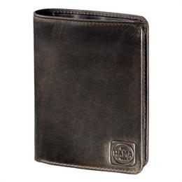 Pánská kožená penìženka s ochranou dat CRYPTALOY H4C, HAMA 1923 Paris, tmavì hnìdá