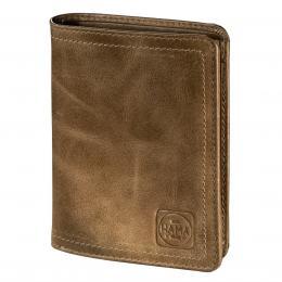 Detail produktu - Pánská kožená peněženka s ochranou dat CRYPTALOY H4C, HAMA 1923 Mailand, světle hnědá